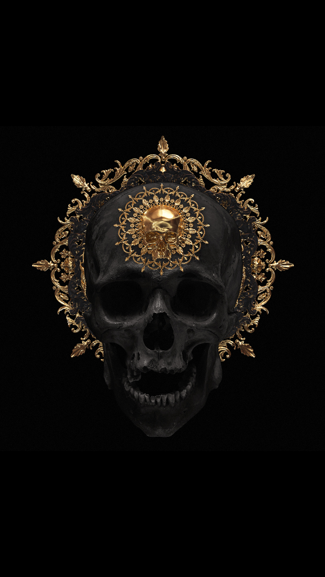 Pin By Chazz Labeouf On Art Black And Gold Aesthetic Modern Graphic Art Skull Art