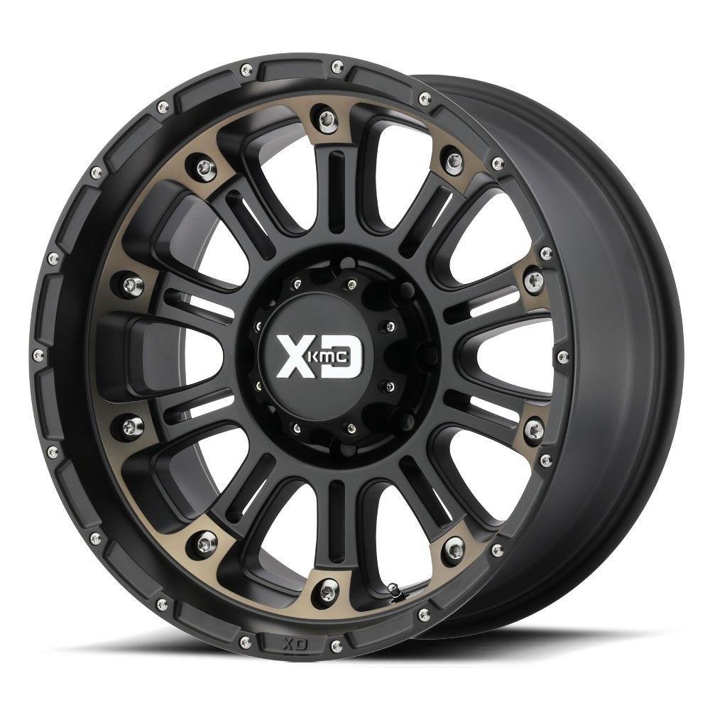 18 Xd Series Xd829 Hoss 2 Black Machined Wheel 18x9 8x170 0mm Ford 8 Lug Truck Xdseries Wheel Rims Rims And Tires Lifted Trucks