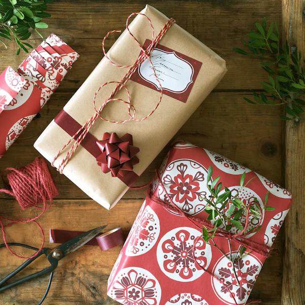 Handmade Paper Gift Envelope ~ Christmas Wrap ~ Snowflakes