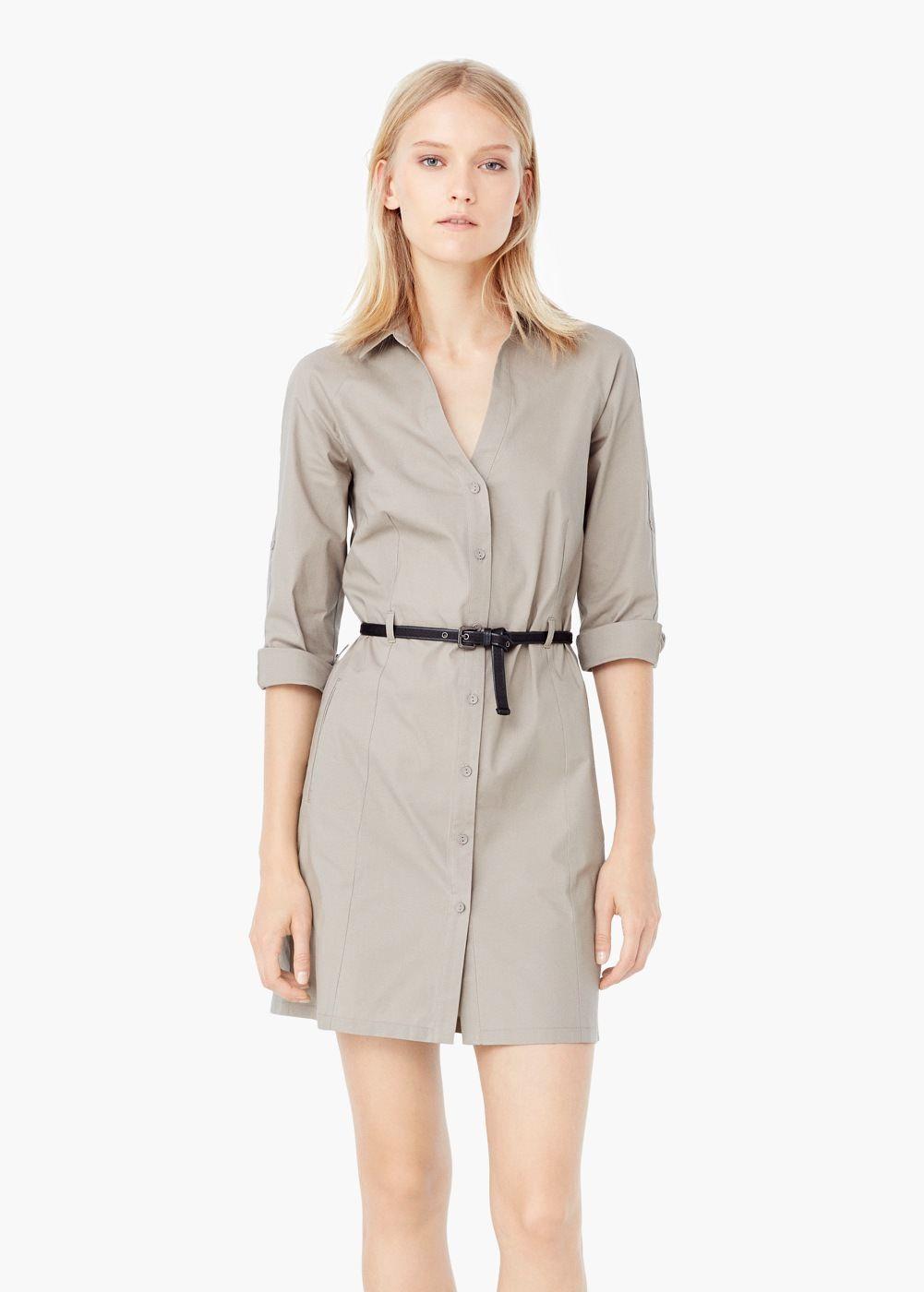 Robe chemisier coton - Femme   mon dressing   Pinterest   Chemisier ... 5650ae25a589