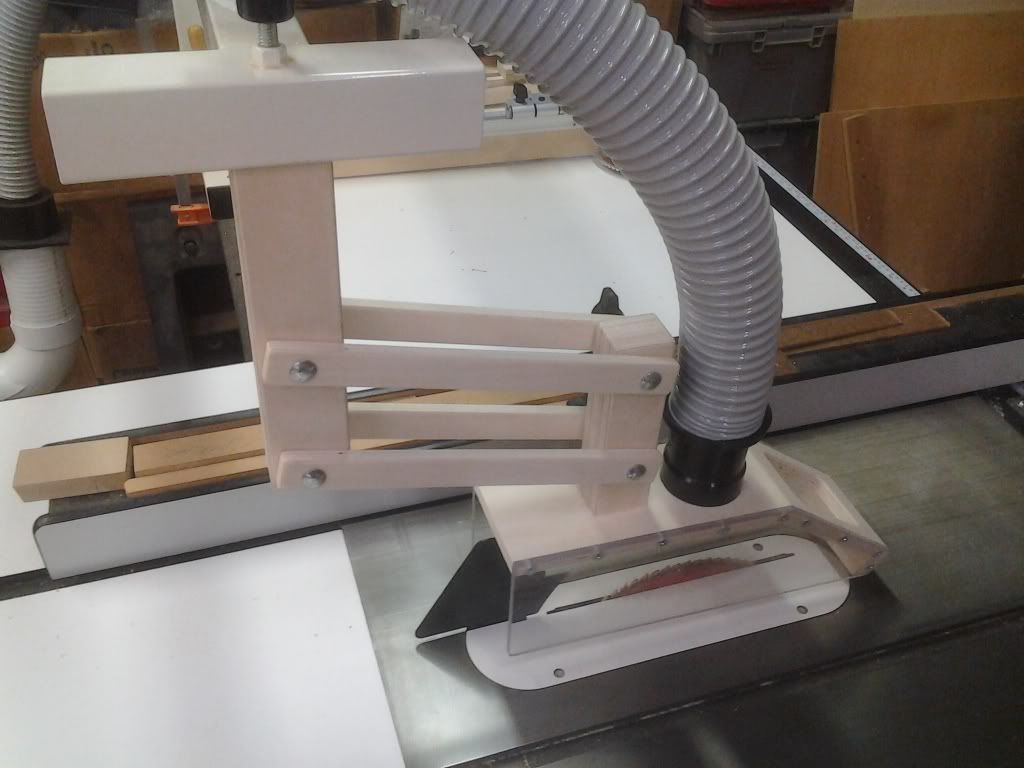 Built Table Saw Overarm Dust Collection Hood Woodworking Talk Woodworkers Forum