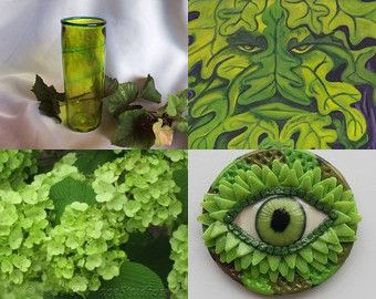 Green Glow~STATTEAM Spotlight~ EyeGloArts by Kathy Carroll on Etsy--Pinned with TreasuryPin.com