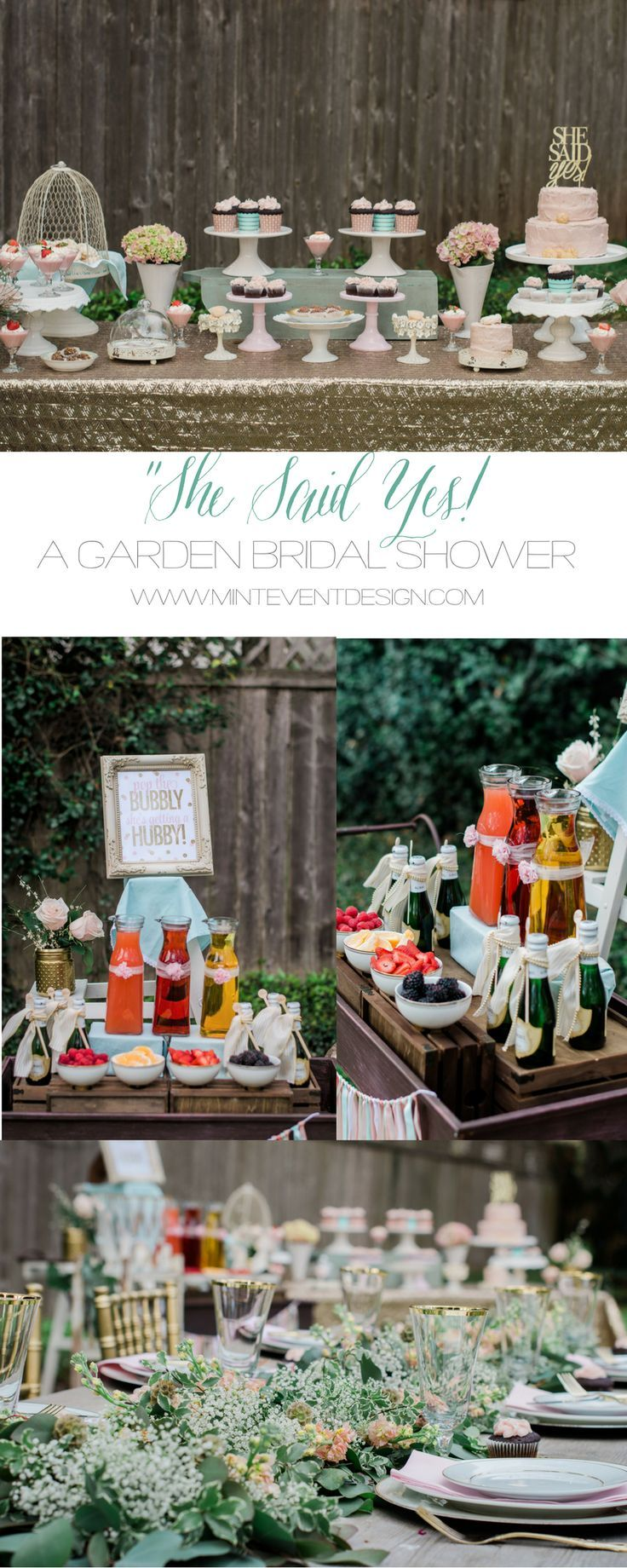 Garden decor for baby shower  A Beautiful Bridal Shower Brunch
