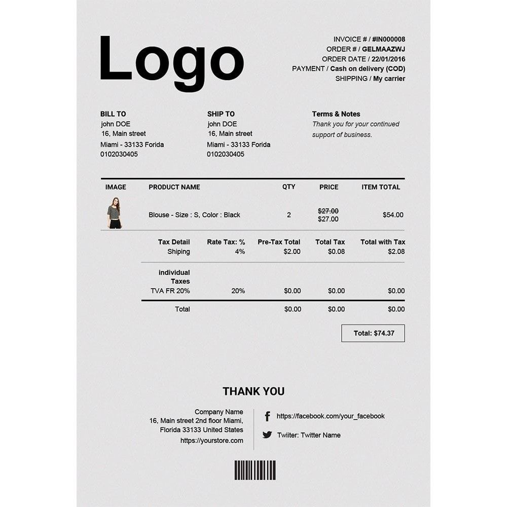Advance Invoice Delivery Credit Pdf Custom Number Invoice Design Invoice Design Template Design Invoice