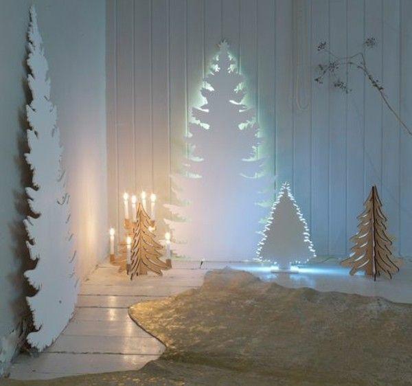 coole basteln lichterketten papier tannenbaum christmas tree weihnachtsdeko basteln