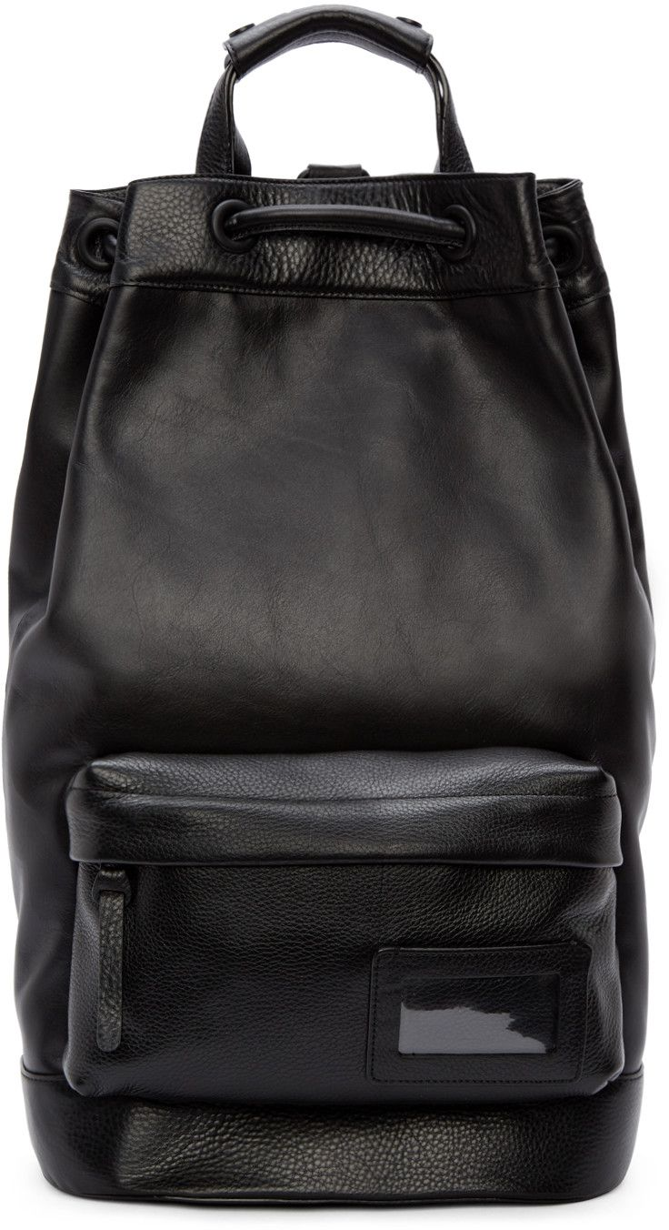 e0f06f03d30 Juun.J Black Leather Backpack