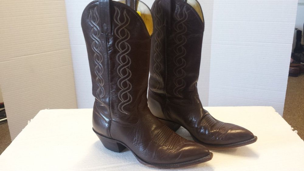 05afa72191a J. Chisholm Drover men's western boots, size 8.5 and in chestnut ...