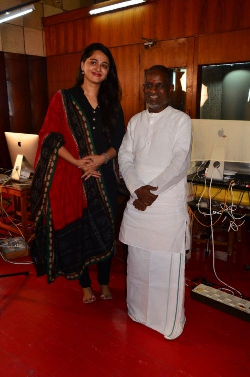 Anushka Meets Ilayaraja Image Gallery