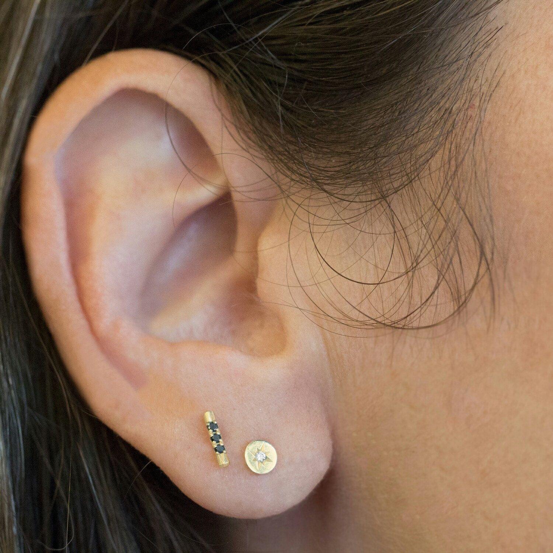 Gold Posts, Diamond Earrings, Diamond Studs, Tiny Stud, Small ...