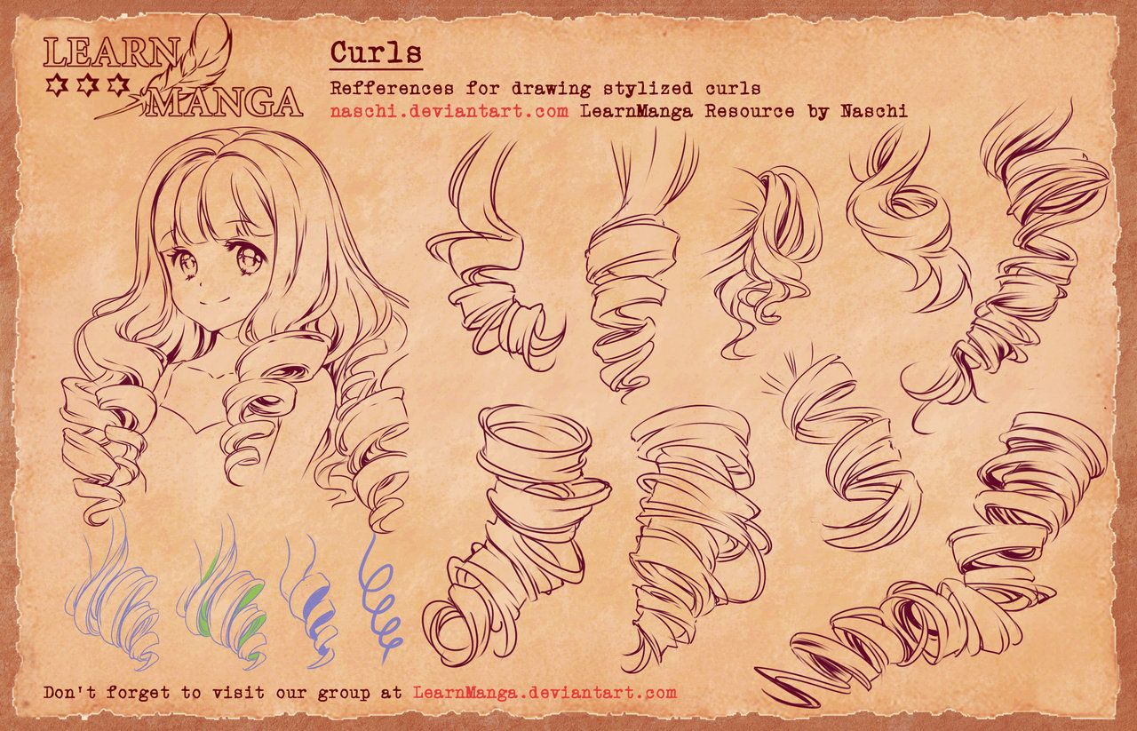 learn manga basics curls 4 refference
