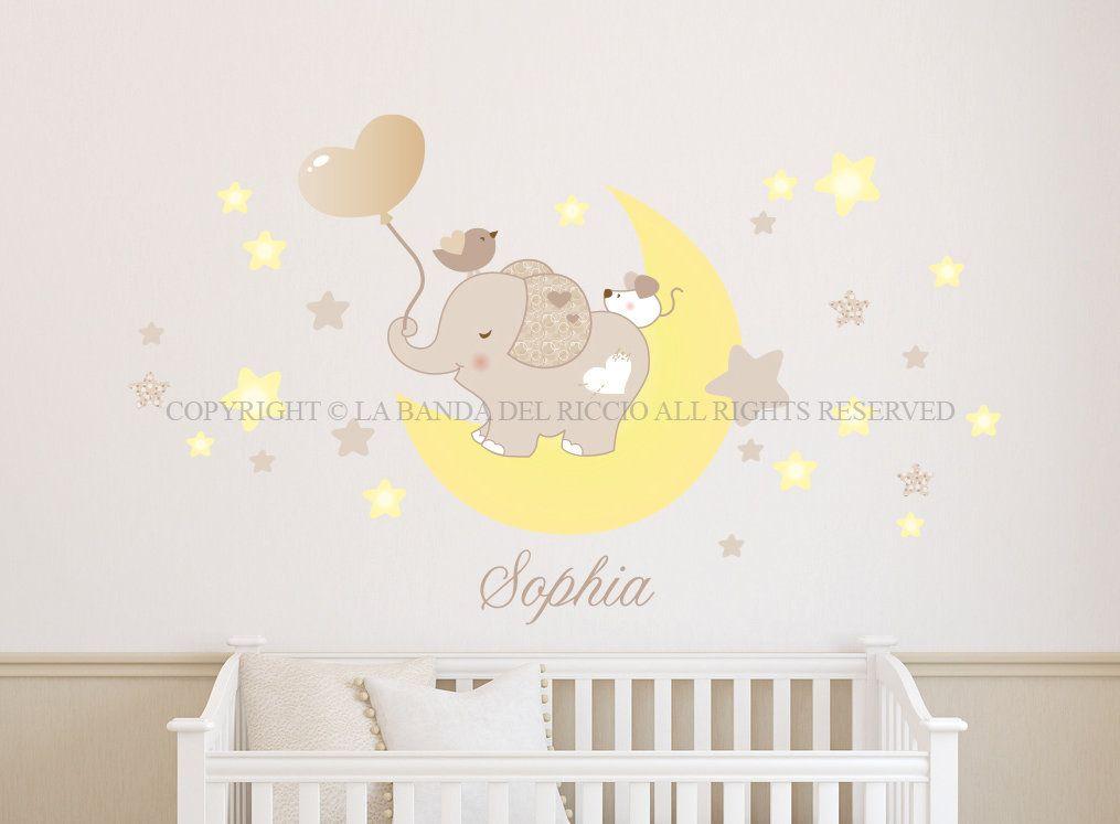 Adesivi Murali Low Cost.Tino Sulla Luna Adesivi Murali Per Bambini Babies Adesivi Murali