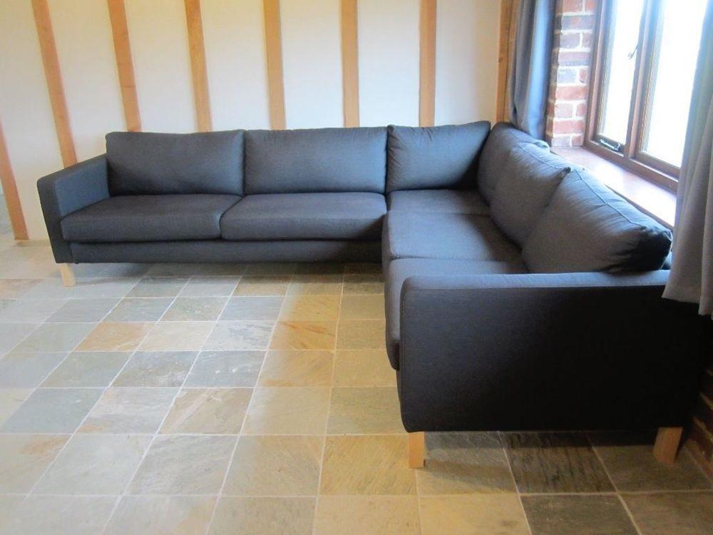 Ordinaire NEW IKEA KARLSTAD Corner Sofa COVER 2 3/3 2 Slipcover Sivik Dark Gray