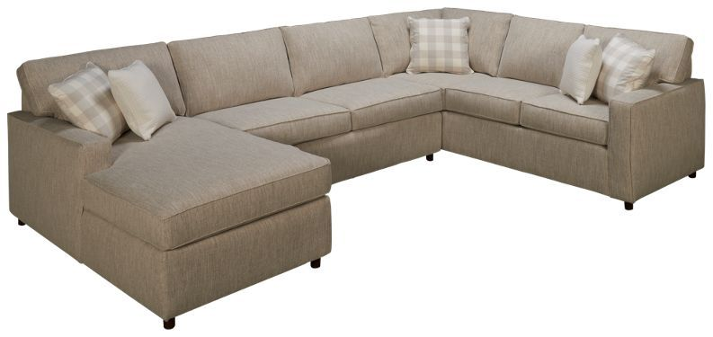 Rowe Monaco 3 Piece Sectional In 2020 3 Piece Sectional Sectional Sofa Leather Sectional