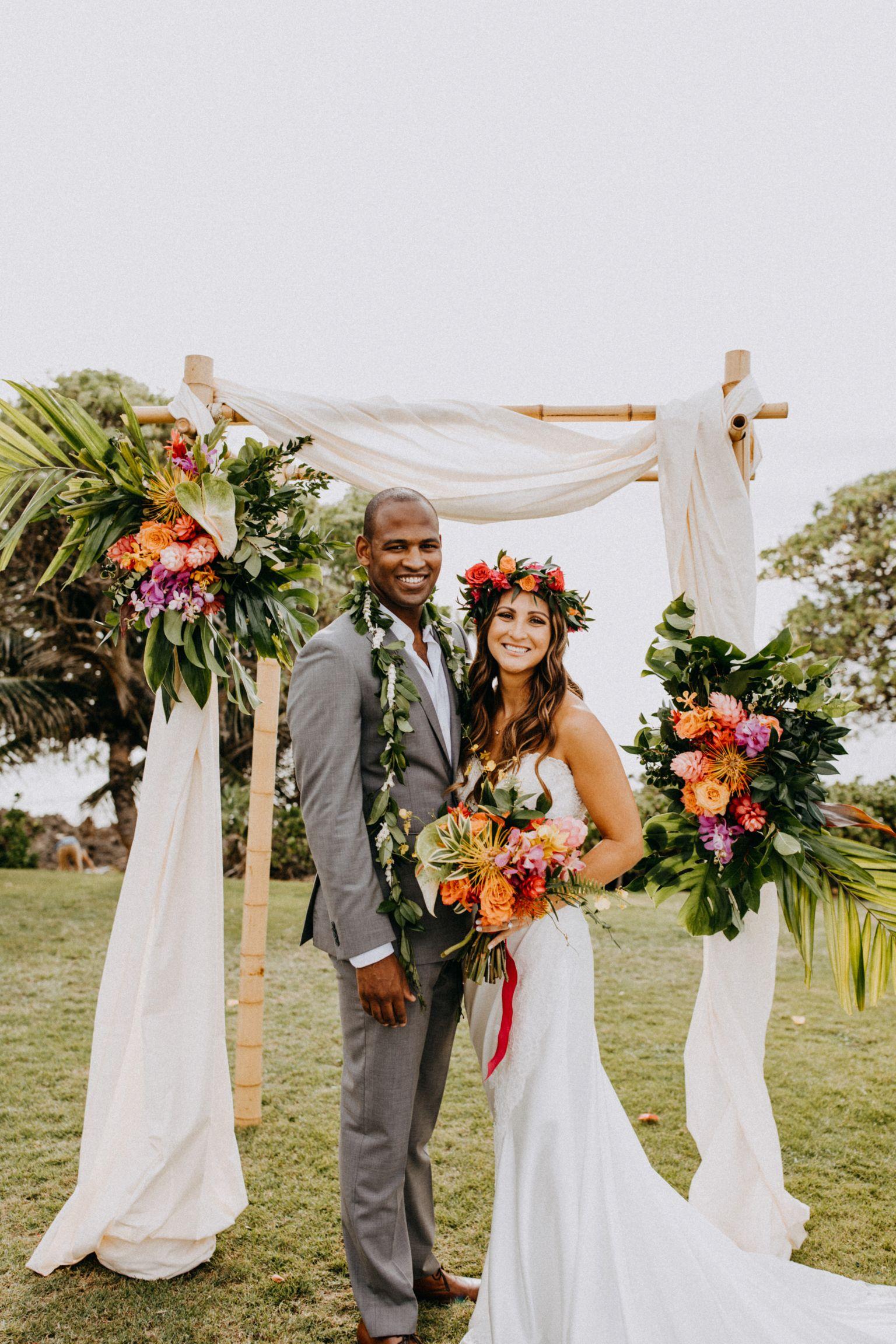 Tropical wedding u hawaii wedding u oahu wedding u turtle bay resort