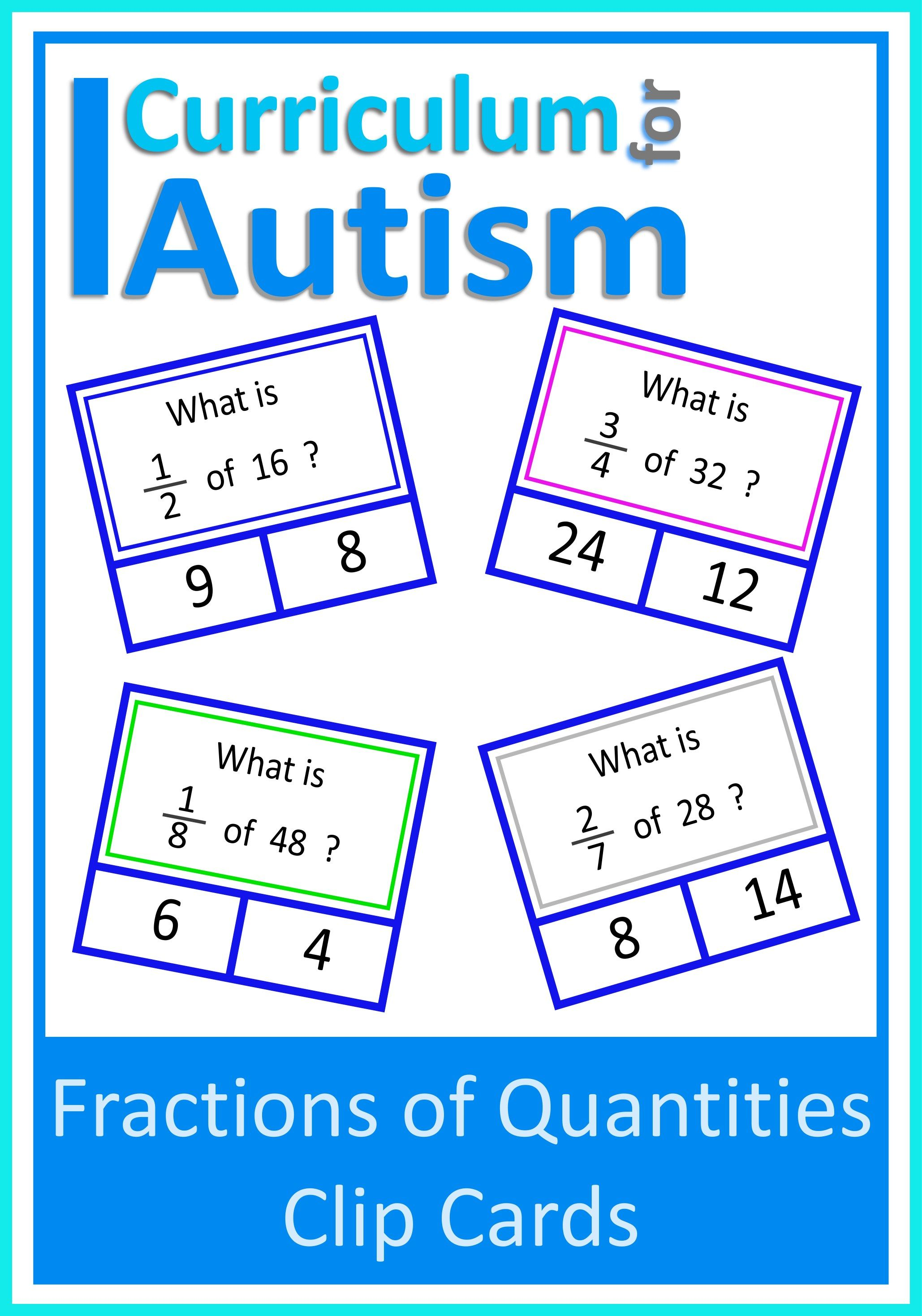 Fractions Of Numbers Cards