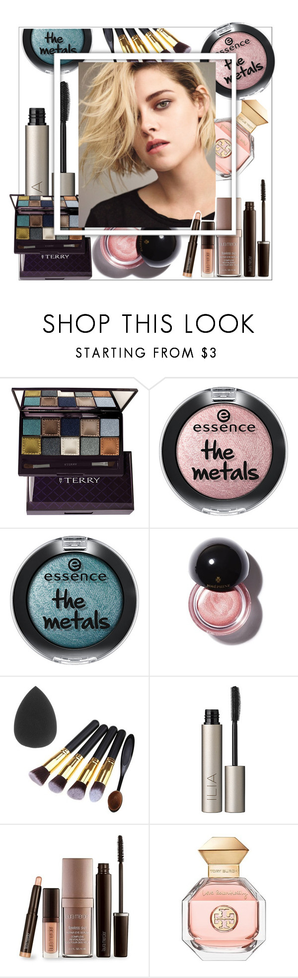 """my way"" by sophiejf ❤ liked on Polyvore featuring beauty, By Terry, Ilia, Laura Mercier and Tory Burch"