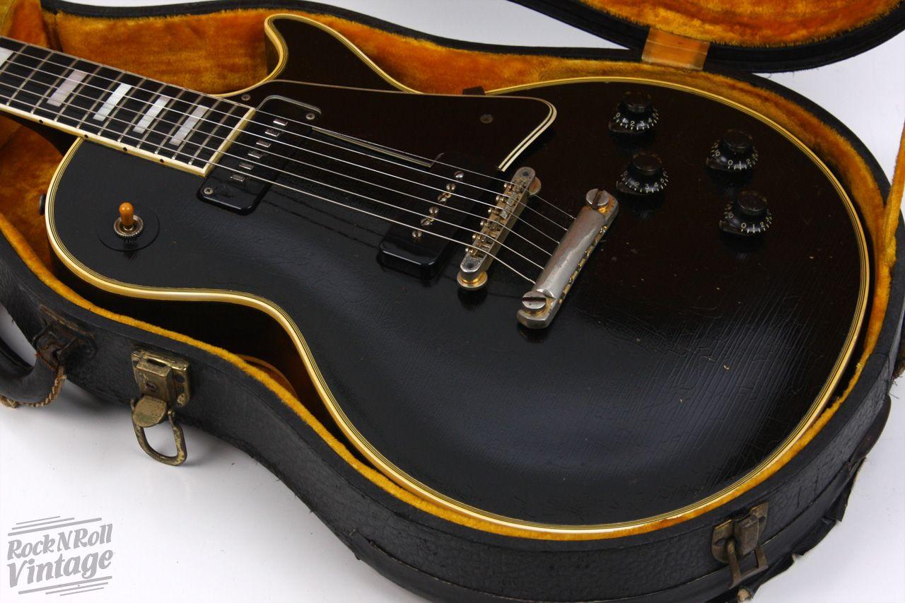 1956 Gibson Les Paul Custom Black Beauty So I M Out Sick For A Week And When I Return I Find The Best Ever 56 Custom Wai Guitar Gibson Guitars Les Paul Custom