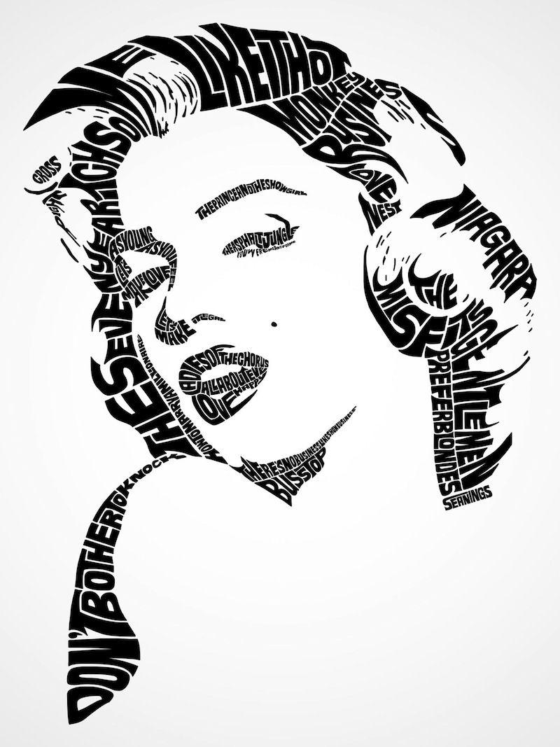 Typography portrait.The little black dress is great. But Audrey ...