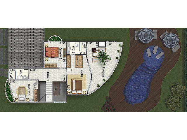 Plantas de casas pré-fabricadas 215 m2 2