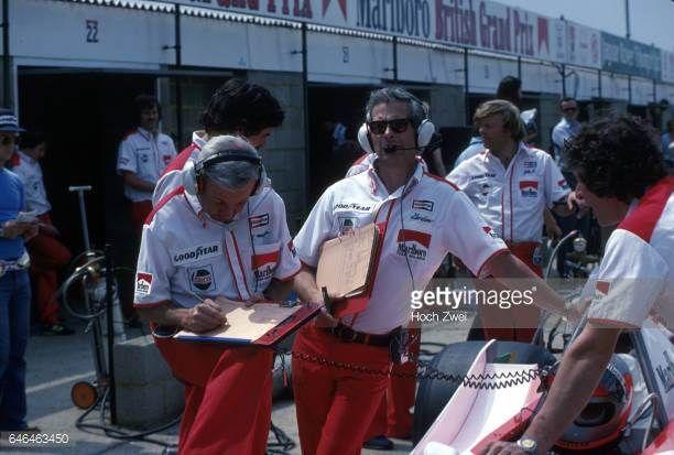 Formel 1 Grand Prix England 1979 Silverstone Boxengasse Mclarenbox