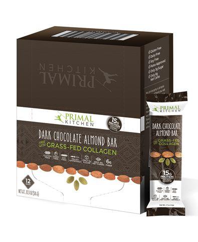 Dark Chocolate Almond Collagen Fuel Bar Dark Chocolate Almonds Almond Bars Primal Kitchen