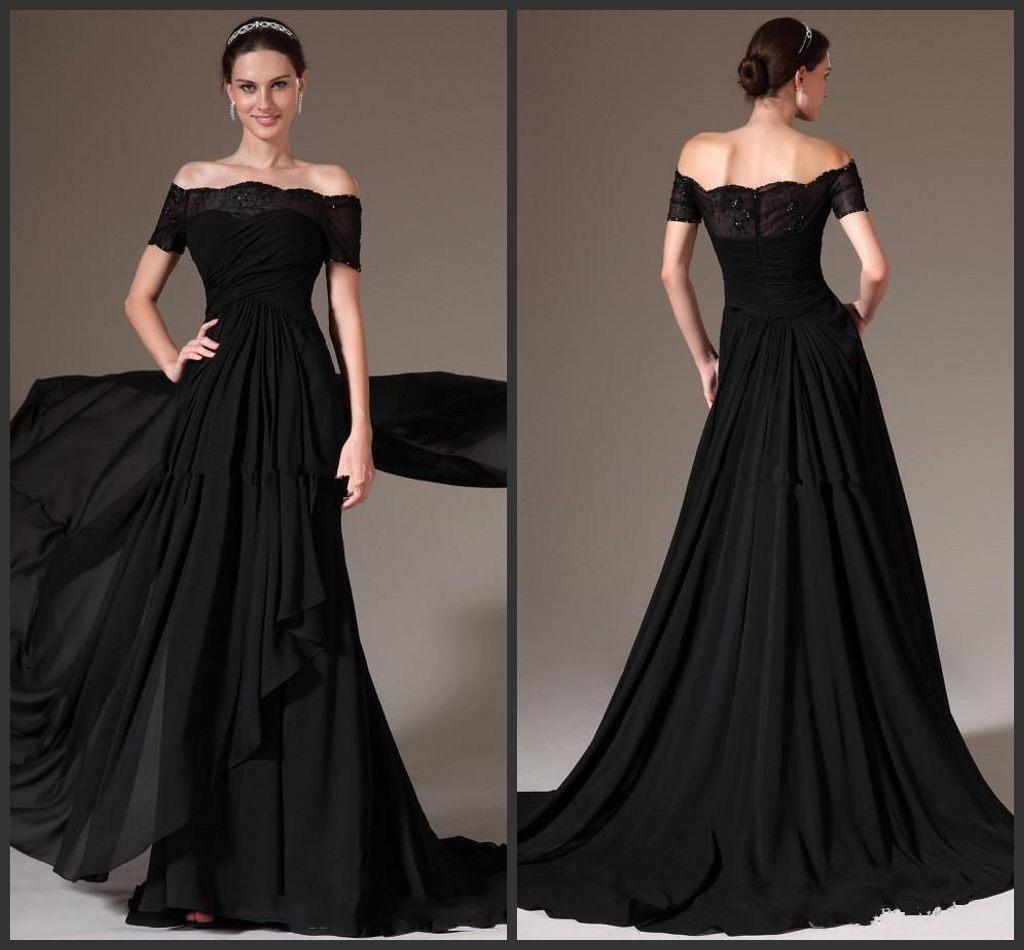 new elegant style black evening dresses offthe shoulder short
