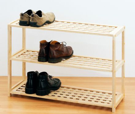Wonderful 3 Tier Wooden Shoe Shelf At STORE. Rubber Wood Shoe Storage Shelf With  Three Tiers To Store Up To Twelve Pairs Of Shoes.