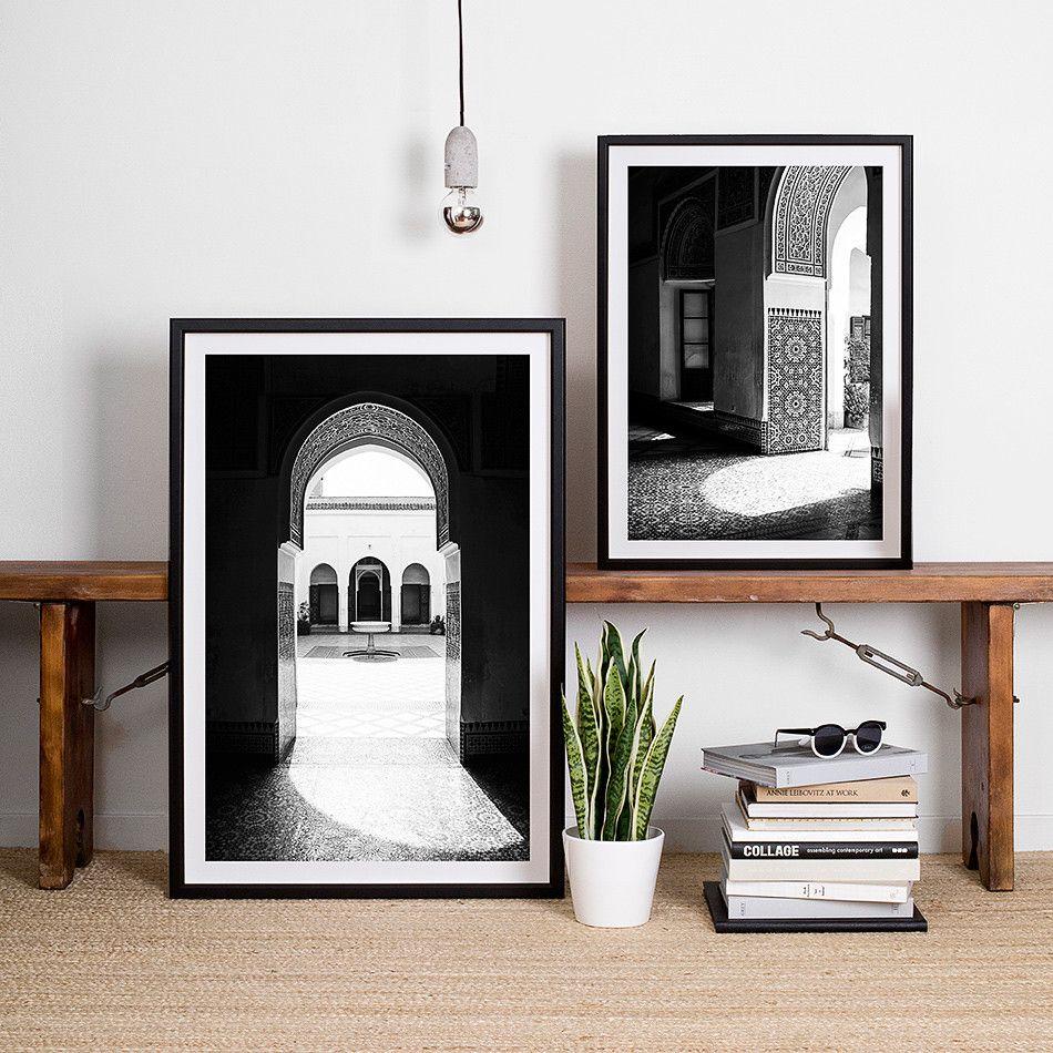 black and white decor interior framed artwork print