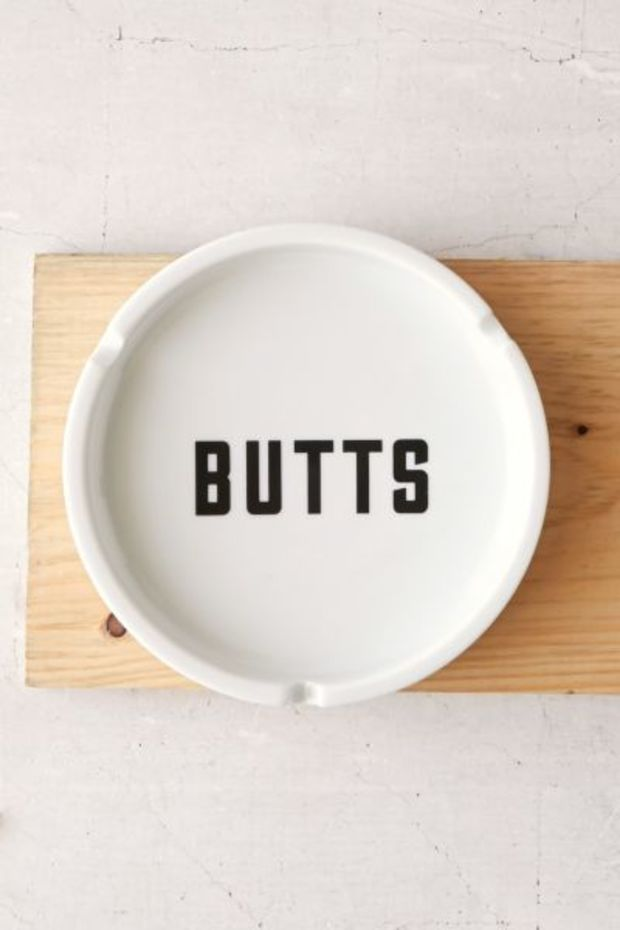 Butts Ashtray- Black & White One