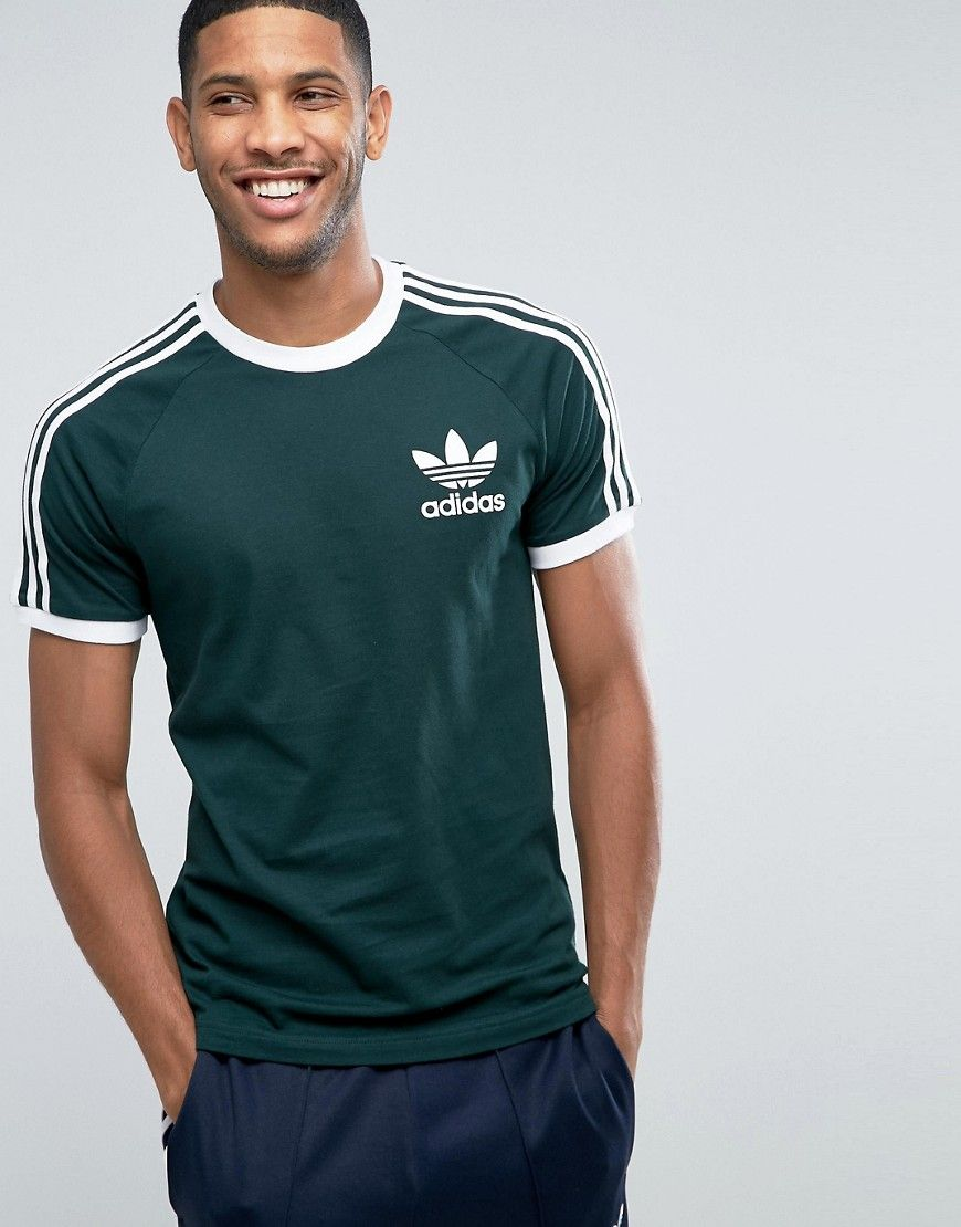 quality design ace69 b7103 ADIDAS ORIGINALS CALIFORNIA T-SHIRT IN GREEN BQ7559 - GREEN.   adidasoriginals  cloth