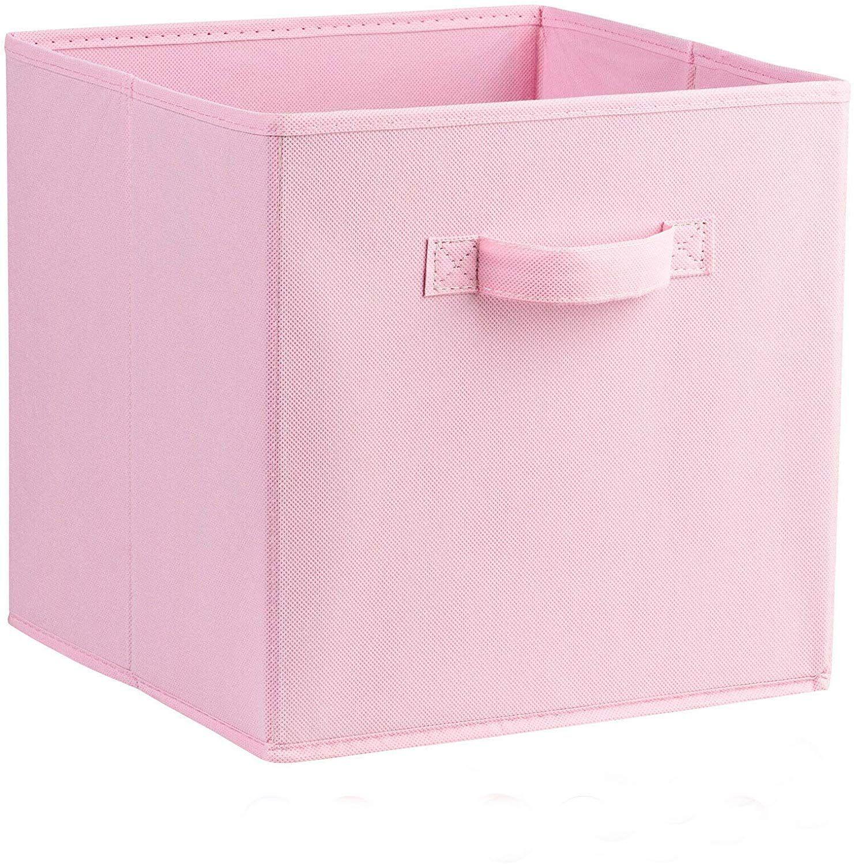 Homezone Canvas Storage Boxes With Handle Folding Foldable