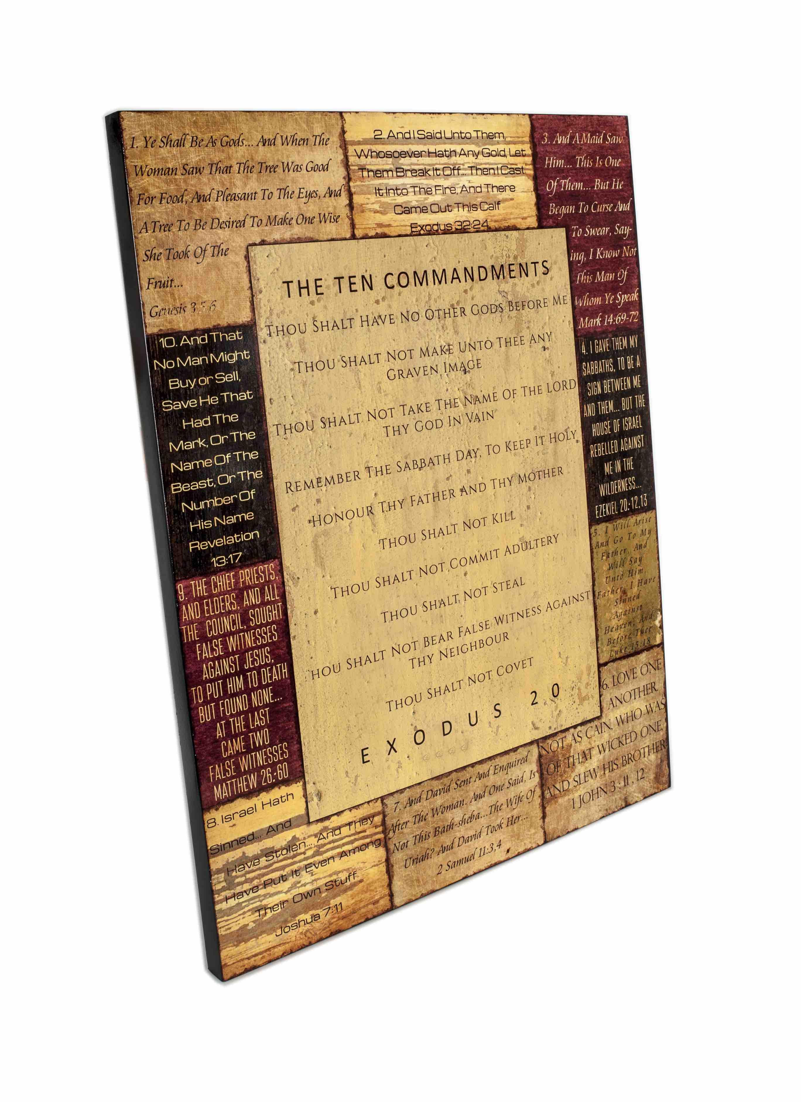 Ten Commandments Our store: https://kingdomwarewood.com/collections ...