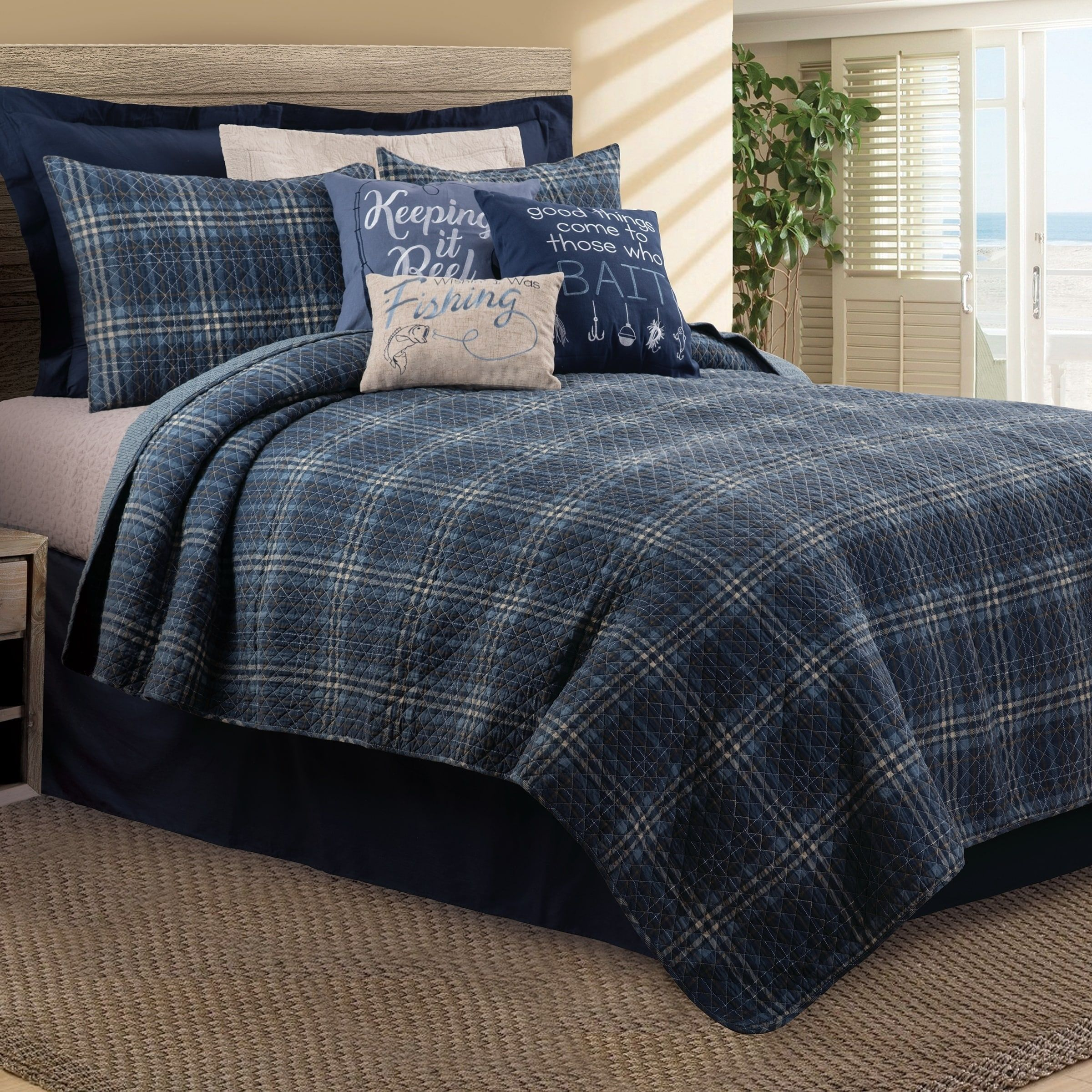 Enterprises Anthony Navy Blue Quilt Twin Traditional Victorian 2 Piece Quilt Sets Bedding Sets Navy Blue Quilt