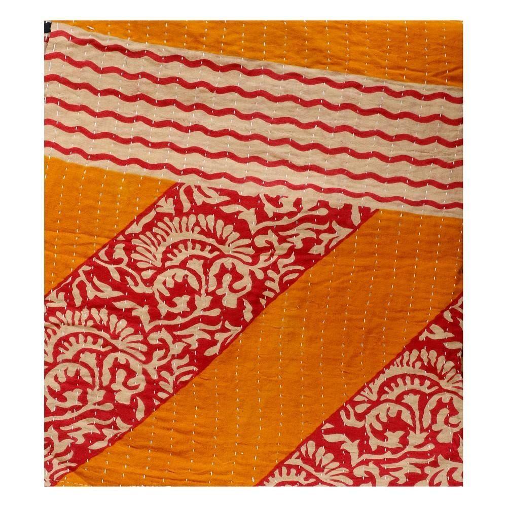 Shop Online Fair Trade Kantha Throw On Sale Vintage Sari Kantha Blanket Kantha Blankets Kantha Throw Vintage Kantha Quilts