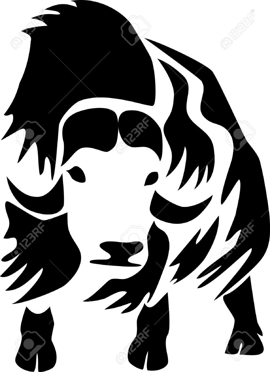 muskox stock vector tat ideas pinterest 2d art art clipart rh pinterest com