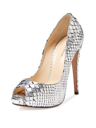 Alexandre Birman Metallic Python Platform Pumps cheap sale pay with paypal cheap price clearance outlet locations zjp9YRr