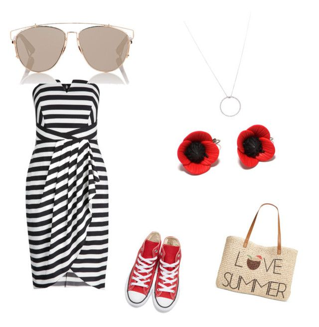 """""""beach"""" by ironwomen on Polyvore featuring Converse, Christian Dior, Roberto Coin and Style & Co."""