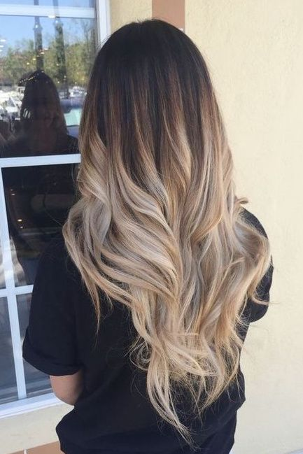 70 Ombre Hair Color Ideas For Blonde Brown Black Balayage Hair Topbestlife Part 52 Hair Styles Ombre Hair Blonde Long Hair Color
