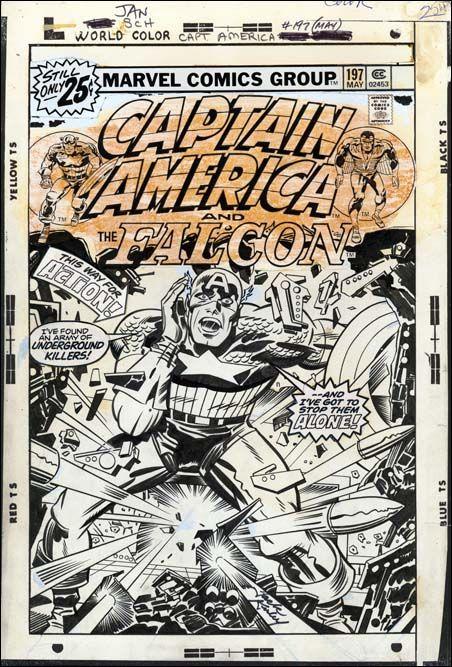 Jack Kirby original art for Captain America #197 | Jack kirby art, Jack  kirby, Kirby