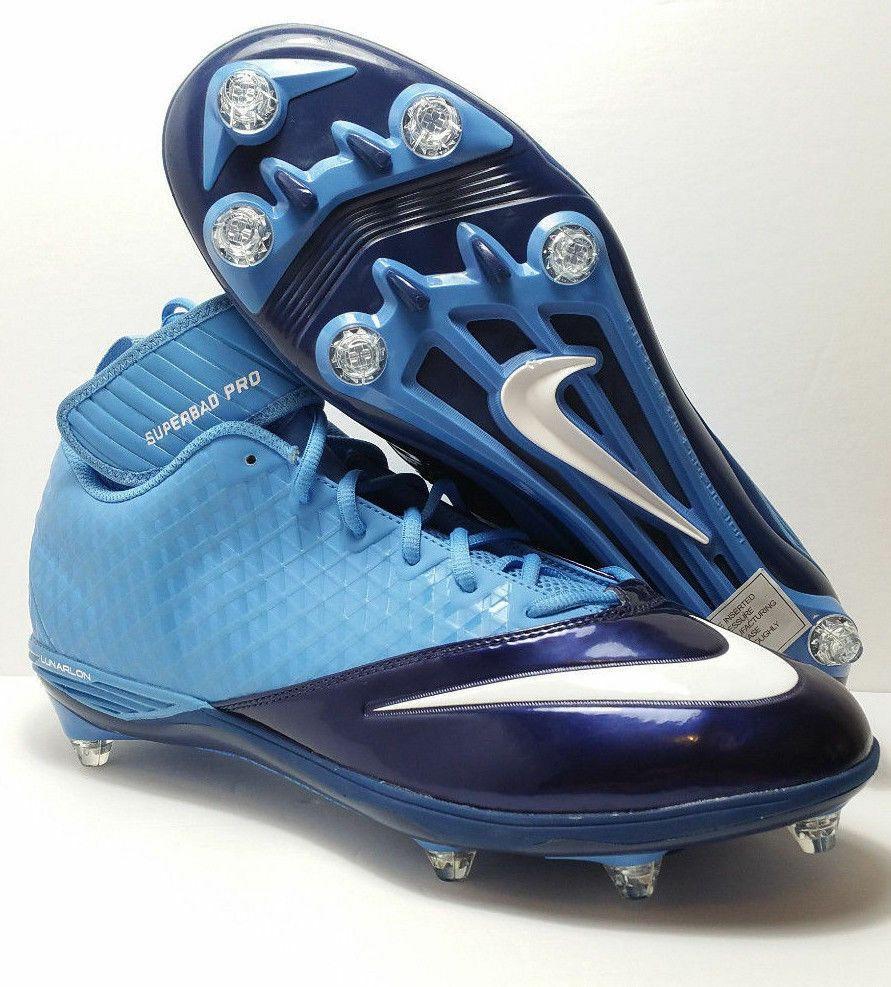 Nike men cleats lunarlon superbad pro football nfl navy