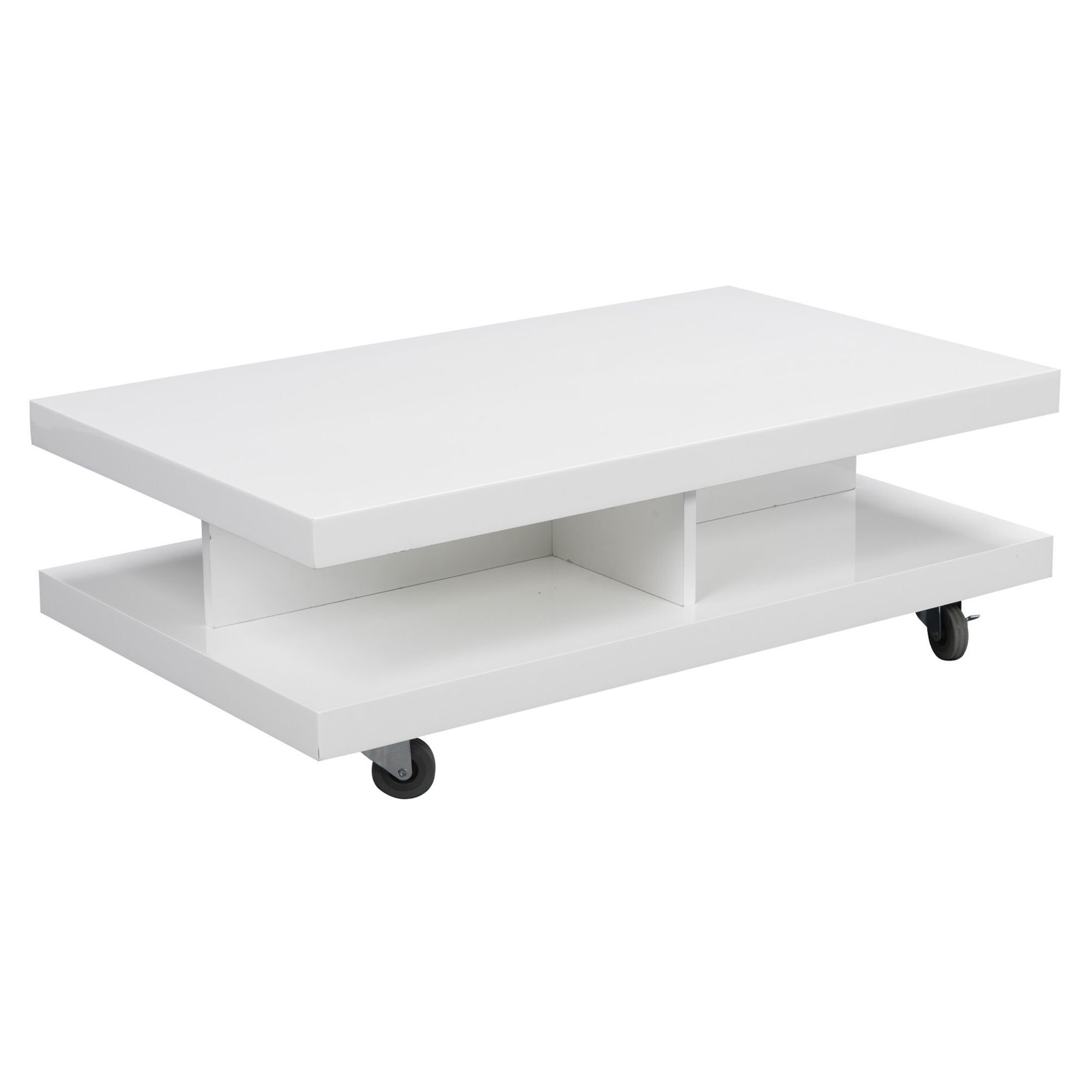 table basse laqu e blanc roller salon les tables basses tables basses et bouts de canap. Black Bedroom Furniture Sets. Home Design Ideas