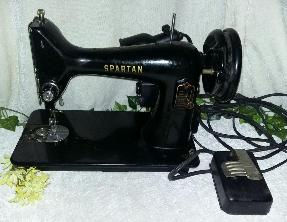 SINGER Spartan 40K Sewing Machine RFJ4040 W Pedal Vintage Custom 1960 Singer Spartan Sewing Machine Model 192k