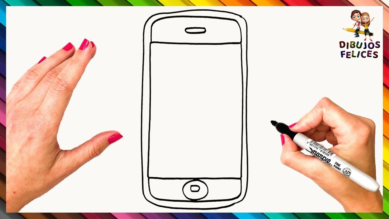 Como Dibujar Un Celular Movil O Smartphone Dibujo De Smartphone Smartphone Celular Para Dibujar Celulares Para Ninos