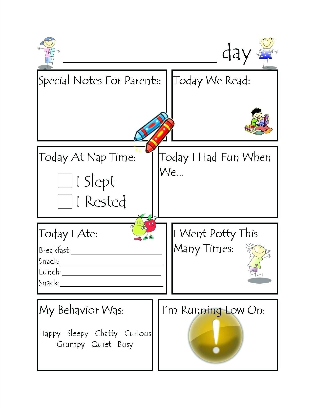 The Glamorous Kids Worksheets Daycare Activity Planning