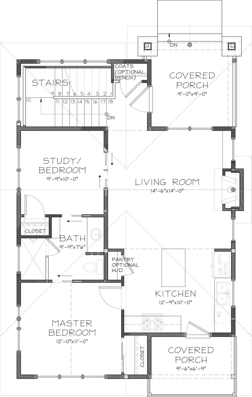 Craftsman Style House Plan 2 Beds 2 Baths 999 Sq Ft Plan 895 25 Craftsman Style House Plans House Plans New House Plans