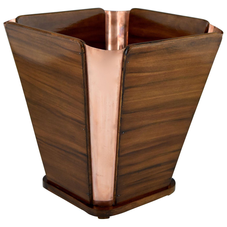 Art Deco waist paper basket Emile Jacques Ruhlmann.