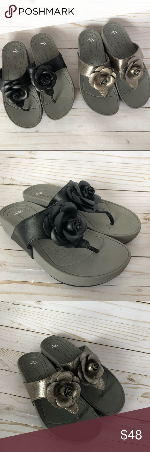 "55bceb13706d Bear Trap Sandals ""Greda"" Women s Sandals Excellent Condition! Gently Worn!  2 Pair Set 6M Bear Trap Shoes Sandals"