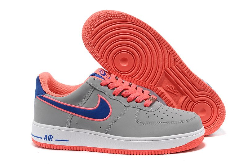 release date cade3 c71a3 Nike Air Force 1 Bajo Hombre Gris Naranja http   www.esnikerun