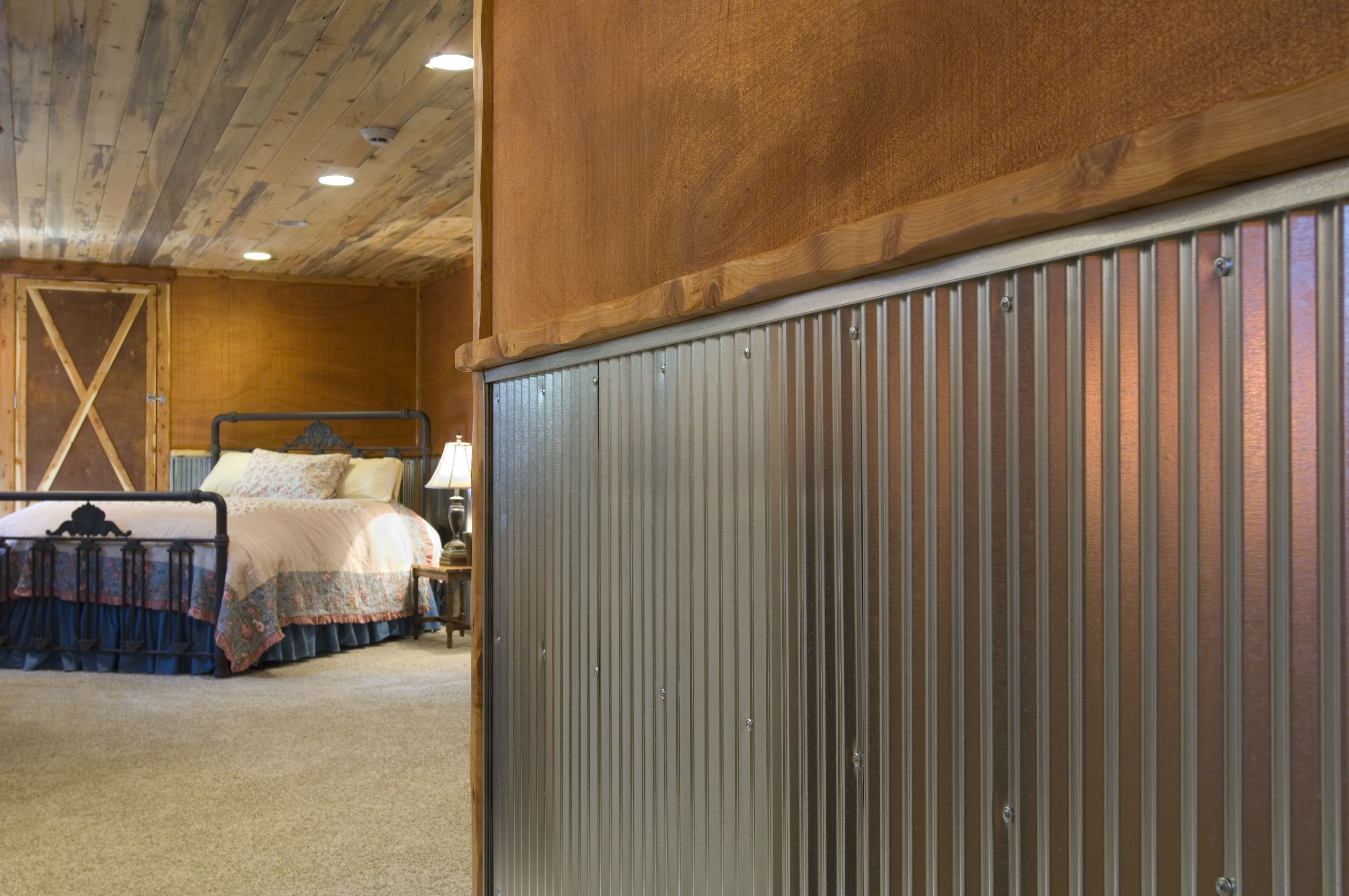 Corrugated Steel Chair Rail Swing Glass Metal For Interior Walls Wainscot 1 4 Panel In Galvanized