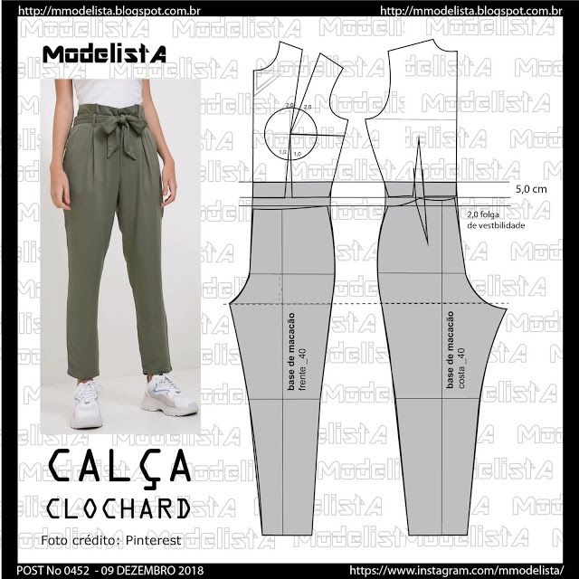 POST No 0452 CLOCHARD PANTS